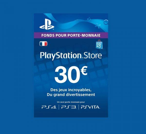 Carte Playstation Network 30€