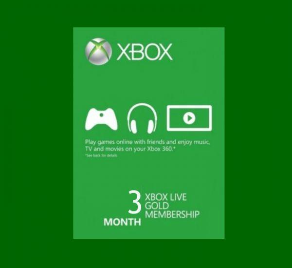Xbox Live Gold 3 Mois