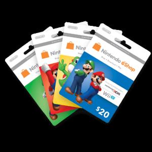 Cartes Nintendo eShop