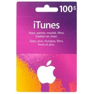 Carte Cadeau iTunes 100€