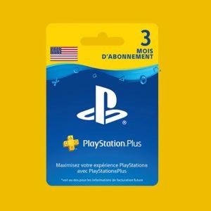 Abonnement Playstation plus 3 mois usa